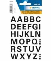 Stickervel letters zwart 15 mm 32x trend