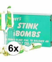 Stinkbommen fopartikelen 6 stuks trend