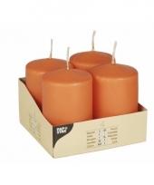Stompkaarsen rond oranje 8 cm trend