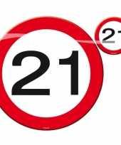 Stopbord placemats en onderzetters 21 jaar trend