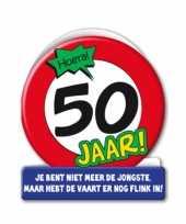 Stopbord verjaardagskaart 50 jaar trend