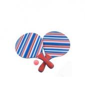 Strand tennisset paars gestreept trend