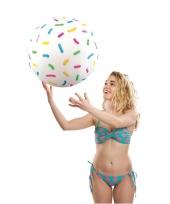 Strandbal met sprinkles print 46 cm trend