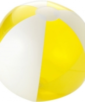 Strandbal opblaasbaar geel trend