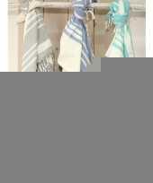 Strandkleed hamamdoek blauw 200 x 240 cm trend