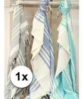 Strandkleed hamamdoek zeegroen 200 x 240 cm trend