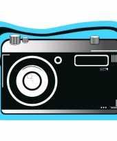 Strandlaken badlaken blauw zwart fotocamera pictury 120 x 170 cm trend