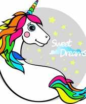 Strandlaken badlaken eenhoorn unicorn licorne wit 150 x 150 cm trend