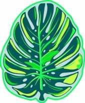 Strandlaken badlaken groen monstera tropisch blad foglia 130 x 155 cm trend