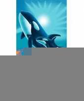 Strandlaken orka met baby 75 x 150 cm trend