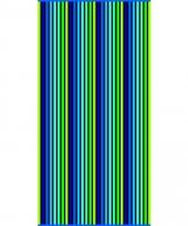 Strandlaken puka verticaal 90 x 170 cm trend