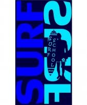 Strandlaken surf surf blue 95 100 x 175 cm trend