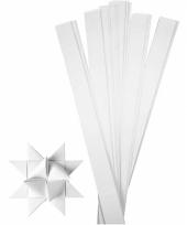 Stroken papier wit 73 cm trend