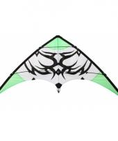 Stuntvlieger groen met zwarte tribal 115 x 50 cm trend