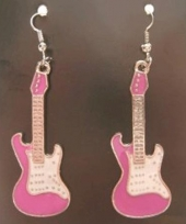 Super stoere gitaar oorbellen trend