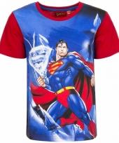 Superman t-shirt rode mouw trend
