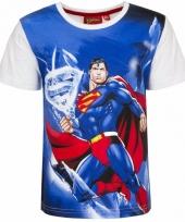 Superman t-shirt witte mouw trend
