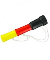 Supporter hoorn zwart rood geel 20 cm trend