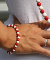 Supporters armband rood met wit trend