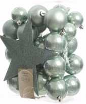 Sweet christmas kerstboom decoratie set mint 33 delig trend