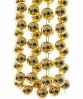 Sweet christmas kerstversiering sterren grove kralen ketting goud 270 cm trend