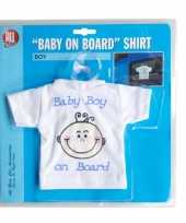 T shirt baby on board jongen voor in de auto trend
