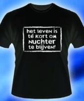 T shirt het leven is te kort trend
