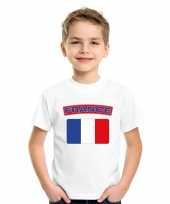 T shirt met franse vlag wit kinderen trend
