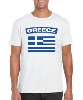 T shirt met griekse vlag wit heren trend