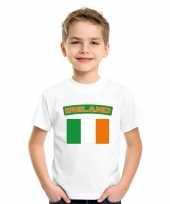 T shirt met ierse vlag wit kinderen trend