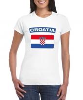 T shirt met kroatische vlag wit dames trend