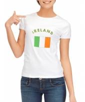 T shirt met vlag ierland print voor dames trend