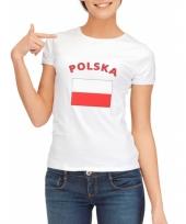 T shirt met vlag polen print voor dames trend