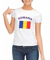 T shirt met vlag roemeense print voor dames trend
