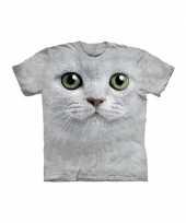T shirt voor kinderen met de afdruk van een witte kat trend