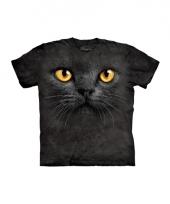 T shirt voor kinderen met de afdruk van een zwarte kat trend