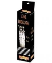 Taart vuurwerk sterretjes 18 cm goud trend