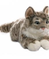 Tabby gestreepte katten knufferl 35 cm trend