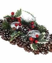 Tafel kerstdecoratie kaarsenstandaard 34 cm trend