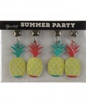 Tafelkleed ananas gewichtjes 4x trend