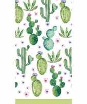 Tafelkleed cactus print 138 x 220 cm trend