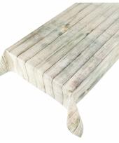 Tafelkleed peva steigerhout beige 140 x 240 cm trend