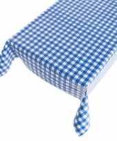 Tafelkleed pvc blauwe ruit 140 x 170 cm trend