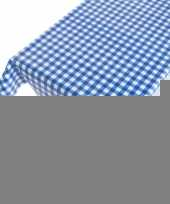 Tafelkleed pvc blauwe ruit 140 x 240 cm trend