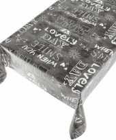 Tafelkleed pvc kitch antraciet 140 x 170 cm trend