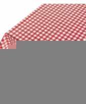 Tafelkleed rode ruit 140 x 240 cm trend
