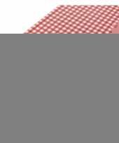 Tafelkleed rode ruit 140 x 240 cm voor kerst trend