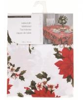 Tafelkleed wit met kerstster 180 x 130 cm trend
