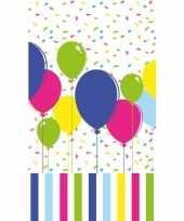 Tafellaken tafelkleed met gekleurde ballonnen 120 x 180 cm trend