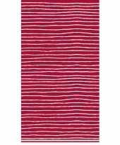 Tafellaken tafelkleed rood witte strepen 138 x 220 cm trend